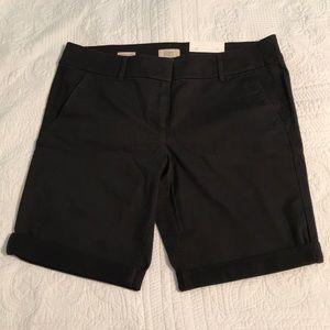 Loft Outlet Bermuda Roll Shorts in Coal Grey